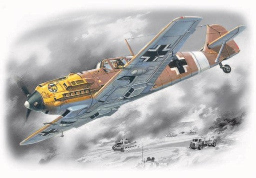 ICM Aircraft 1/72 WWII Messerschmitt Bf109E7/Trop Fighter Kit