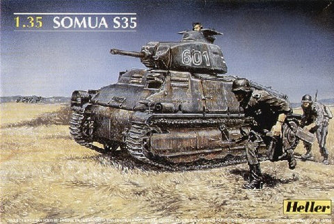 Heller Military 1/35 Somua S35 French Tank Kit