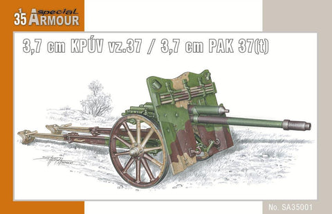 Special Hobby Military 1/35 3,7cm PAK 37(t) Anti-Tank Gun Kit