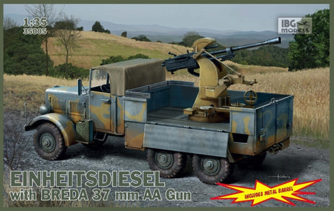 IBG Military Models 1/35  WWII Einheits Diesel German Truck w/3,7cm Breda Gun Kit