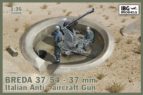 IBG Military Models 1/35  Breda 37/54 Mod 39 Italian 37mm Anti-Aircraft Gun Kit