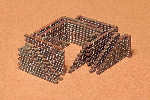 Tamiya Military 1/35 Brick Wall Set Kit