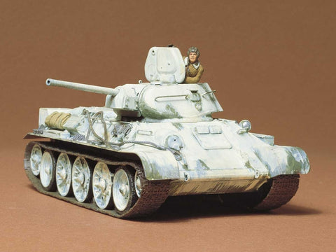 Tamiya Military 1/35 Russian T34/76 1942 Production Tank (Re-Issue) Kit