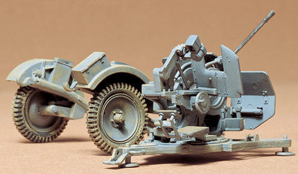 Tamiya Military 1/35 German 20mm Flak 38 Anti-Aircraft Gun w/SdAh51 Trailer Kit