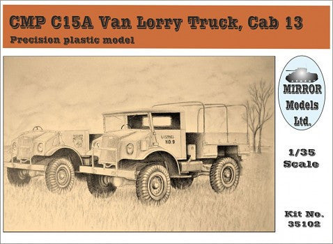 Mirror Models Military 1/35 CMP C15A Cab 13 Van Lorry Truck Kit