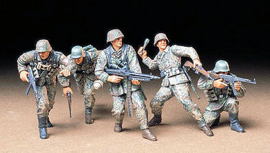 Tamiya Military 1/35 German Front-Line Infantry (5 Figures) Kit