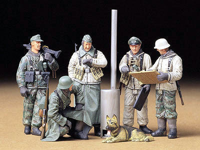 Tamiya Military 1/35 German Soldiers Field Briefing (5 Figures) Kit
