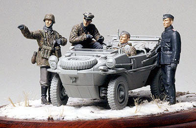 Tamiya Military 1/35 German Panzer Division Frontline Recon Team (4 Figures) Kit