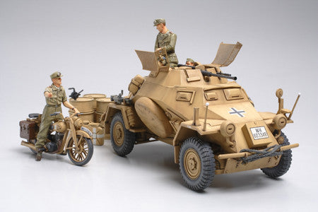 Tamiya Military 1/35 SdKfz 222 w/DKW Motorcycle N African Campaign Kit