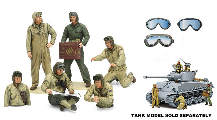 Tamiya Military 1/35 US Tank Crew European Theater (New Tool) Kit