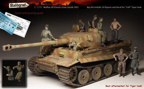 Stalingrad 1/35 WSS Panzer Crew, Big Set 10 figures and decal