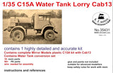 LZ Models 1/35 C15A Cab 13 Water Tank Lorry Truck Kit