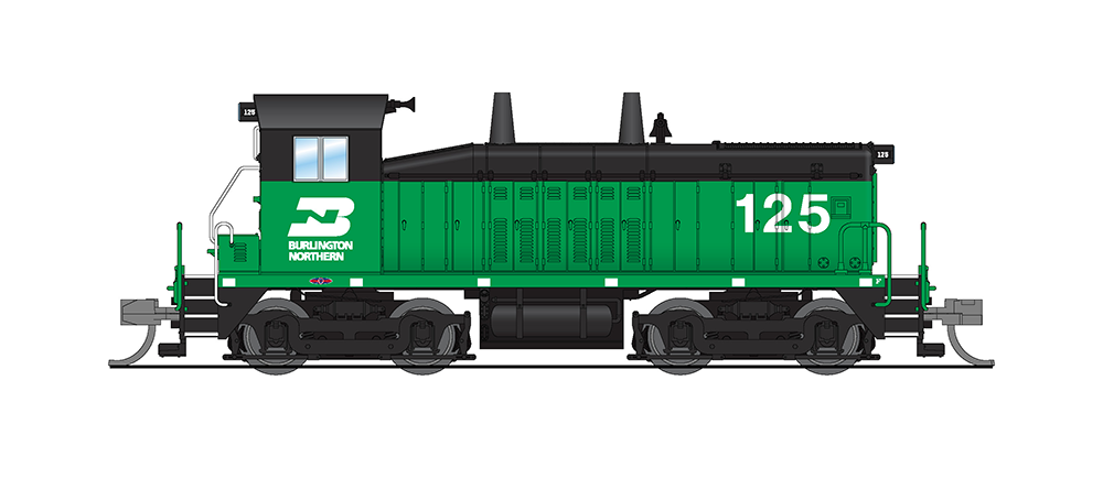 Broadway Limited N EMD NW2, BN 125, Green & Black, Paragon3 Sound/DC/DCC