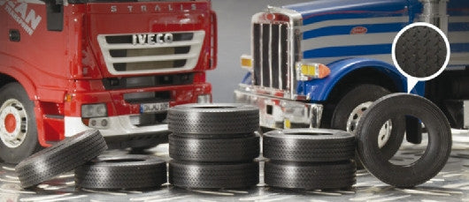 Italeri Model Cars 1/24 Rubber Truck Tires (8) Kit