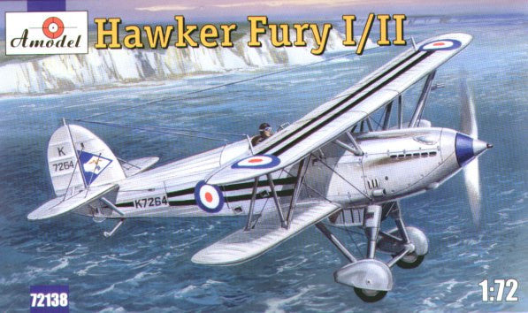A Model From Russia 1/72 Hawker Fury I/II USAF BiPlane Fighter Kit