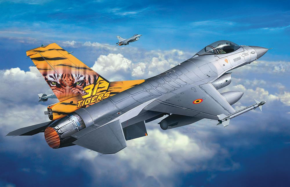 Revell Germany Aircraft 1/144 F16 Mlu Tiger Meet Aircraft  Kit