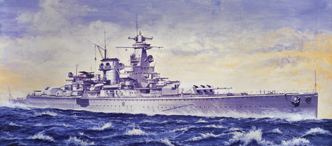 Italeri Model Ships 1/720 Admiral Scheer German Pocket Battleship Kit