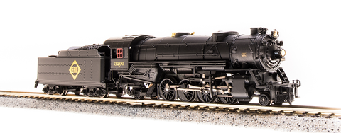 Broadway Limited N USRA 2-8-2 Heavy Mikado - Sound and DCC - Paragon3 - Erie 3202 (Black, Graphite, Yellow)