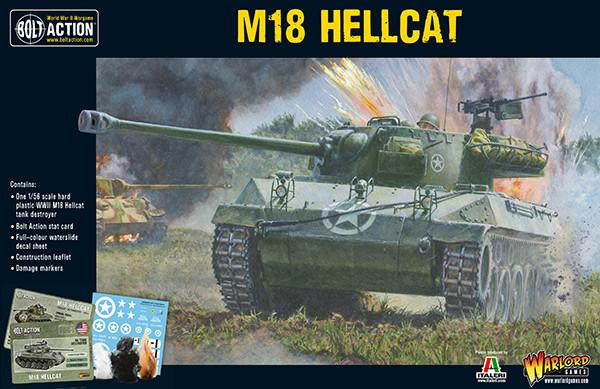 Warlord Games 28mm Bolt Action: WWII M18 Hellcat US Tank Destroyer Kit