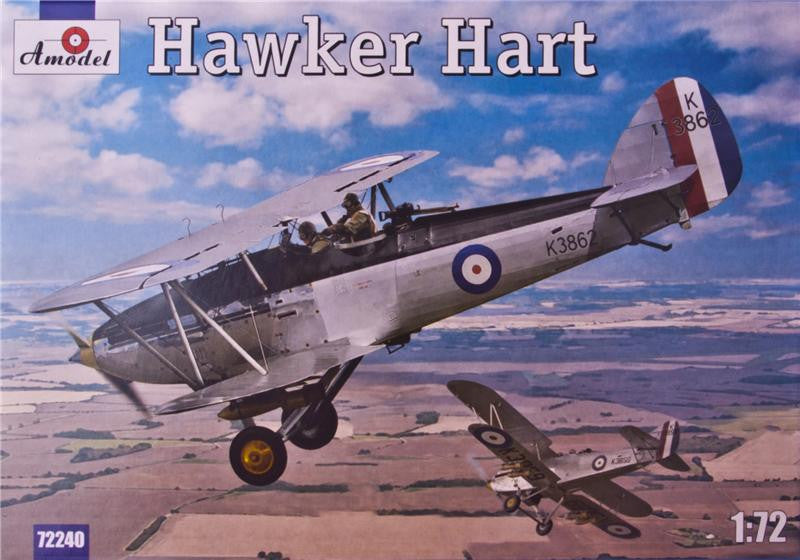 A Model From Russia 1/72 Hawker Hart British BiPlane Fighter Kit