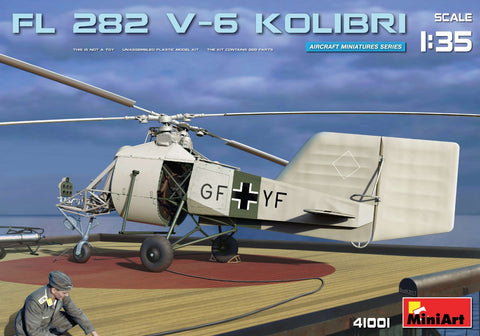 MiniArt Aircraft 1/35 FL282 V6 Kolibri (Hummingbird) Single-Seat Scout Helicopter (New Tool) Kit