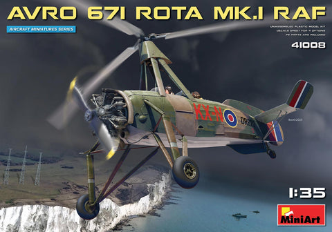 MiniArt Aircraft 1/35 Avro 671 Rota Mk I RAF Two-Seater Autogyro (New Tool) Kit