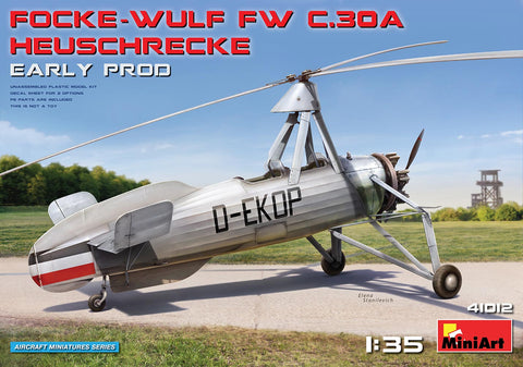 MiniArt Aircraft 1/35 Focke Wulf FwC30A Heuschrecke (Grasshopper) Early Prod Two-Seater Autogyro Kit