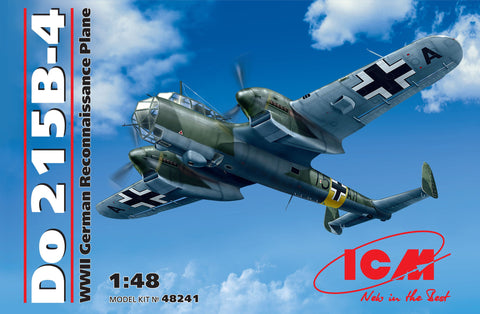ICM Aircraft 1/48 WWII German Do215B4 Recon Aircraft Kit