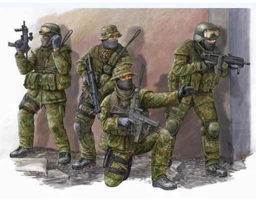 Trumpeter Military Models 1/35 Modern German KSK Commandos Figure Set (4) Kit