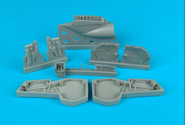 Aires Hobby Details 1/48 BAC EE Lightning F Mk 2/6 Wheel Bays For ARX (Resin)