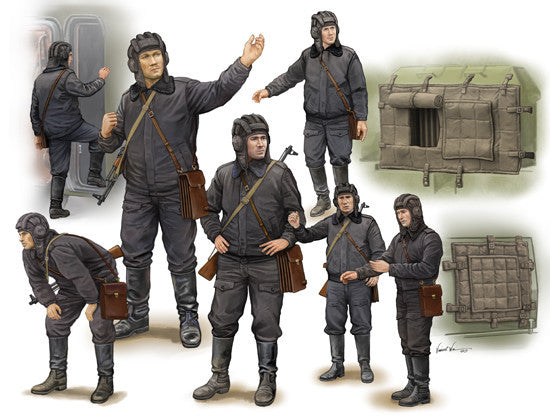 Trumpeter Military Models 1/35 Soviet Soldier Scud B Crew (7) (New Tool) Kit