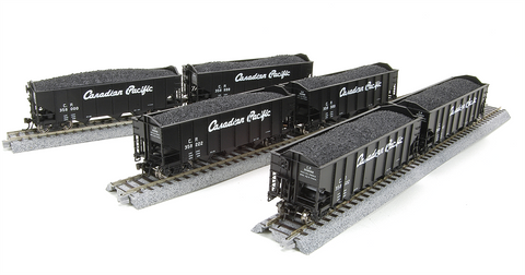 Broadway Limited Imports HO 3-Bay Hopper CP 6 Pack