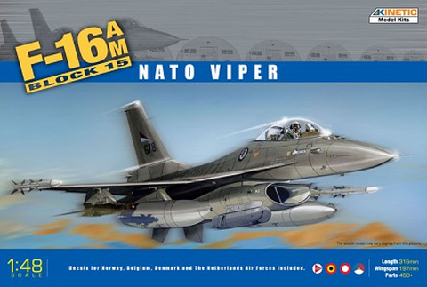 Kinetic Aircraft 1/48 F-16A MLU Block 15 Kit