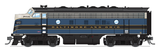 Broadway Limited HO EMD F7 A-B Phase I Set w/Sound & DCC - Paragon3 - Baltimore & Ohio #180A, 180X (Blue, Gray, Black)