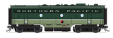 Broadway Limited HO EMD F7 A-B Phase I Set w/Sound & DCC - Paragon3 - Northern Pacific #6510A, 6510B (Loewy Passenger Scheme 2-Tone Green)