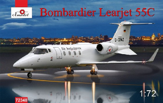 A Model From Russia 1/72 Bombardier Learjet 55C Business Jet Kit