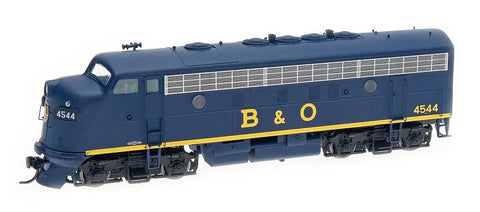 InterMountain Railway HO Assembled EMD F7A Locomotive w/Sound - Baltimore & Ohio - All Blue