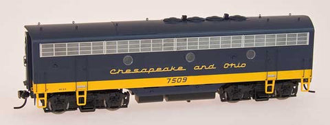 InterMountain Railway HO Assembled EMD F7B Locomotive w/Sound - Chesapeake & Ohio