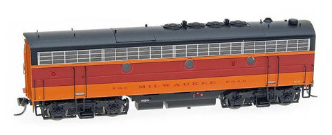 InterMountain Railway HO Assembled F7B Locomotive w/Sound - Milwaukee Road