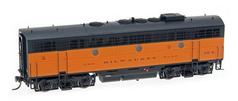 InterMountain Railway HO Assembled EMD F7B Locomotive w/Sound - Milwaukee Road