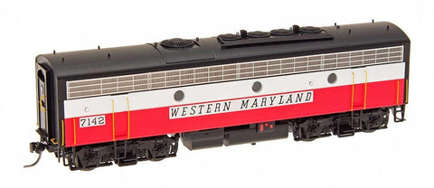 InterMountain Railway HO Assembled EMD F7B Locomotive w/Sound - Western Maryland - Circus