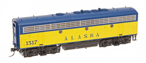 InterMountain Railway HO Assembled EMD F7B Locomotive w/Sound - Alaska RR - DOT Scheme