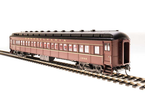 Broadway Limited N PRR Class P70 Heavyweight Coach, No Air Conditioning 4-Pack - RTR - Pennsylvania Railroad (Tuscan, Black, Gold Lettering)