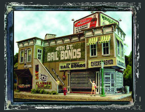 Bar Mills HO 4th St Bail Bonds/Mission Kit