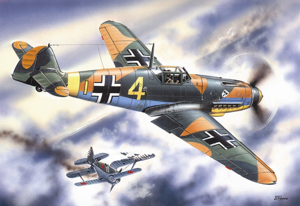 ICM Aircraft 1/48 WWII Messerschmitt Bf109F4 Fighter Kit