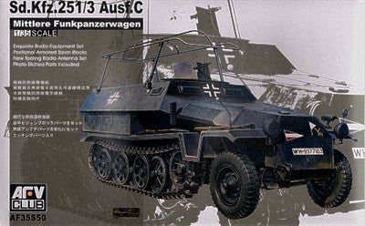 AFV Club Military 1/35 SdKfz 251/3 Ausf C Mittlere FunkPzWg Halftrack Kit
