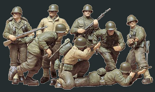 Tamiya Military 1/35 US Infantry European Theatre (8 Figures) Kit