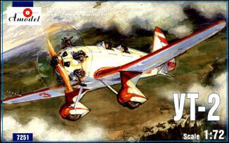 A Model From Russia 1/72 UT2 Trainer Aircraft Kit