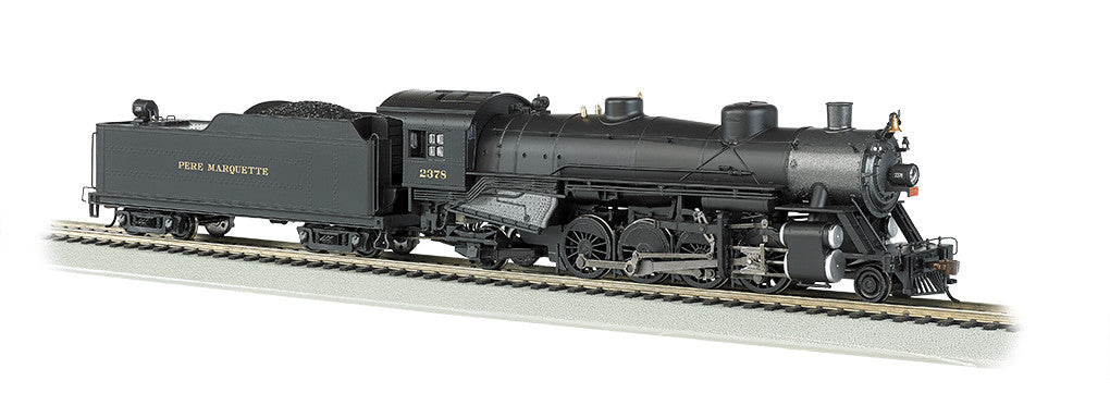 Bachmann HO 2-8-2 Light, Pere Marquette #2378 - DCC Ready
