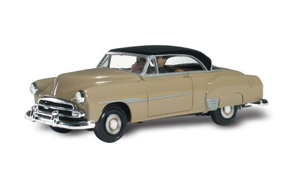 Woodland Scenics HO Autoscene Billy Brown's 1950's Coupe w/Figures